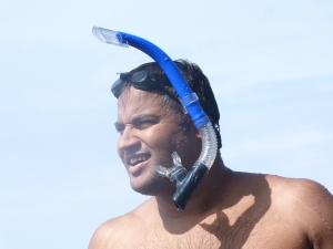 Prasad In Snorkeling gear.