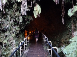 Into the Thurston Lava tube.