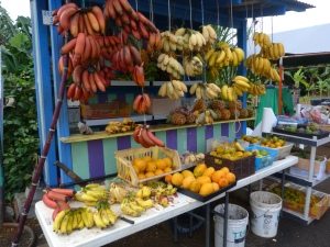 We were delighted to shop at a fruit stall!