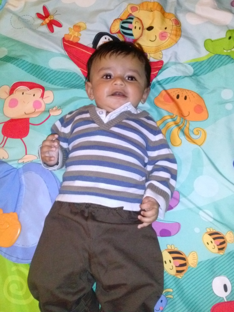 Madhav at 4 months old.