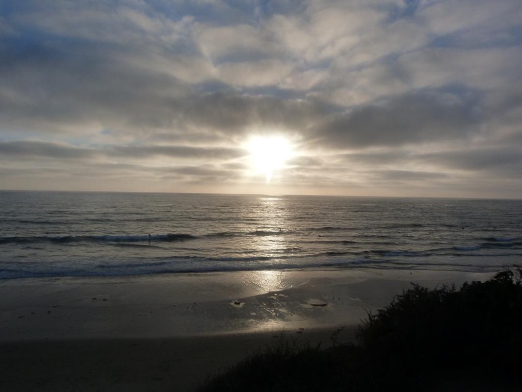 Sun-set in Del Mar beach