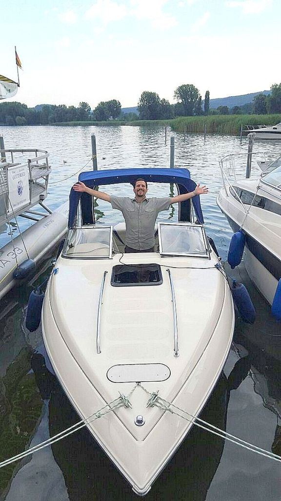 Mike in his boat