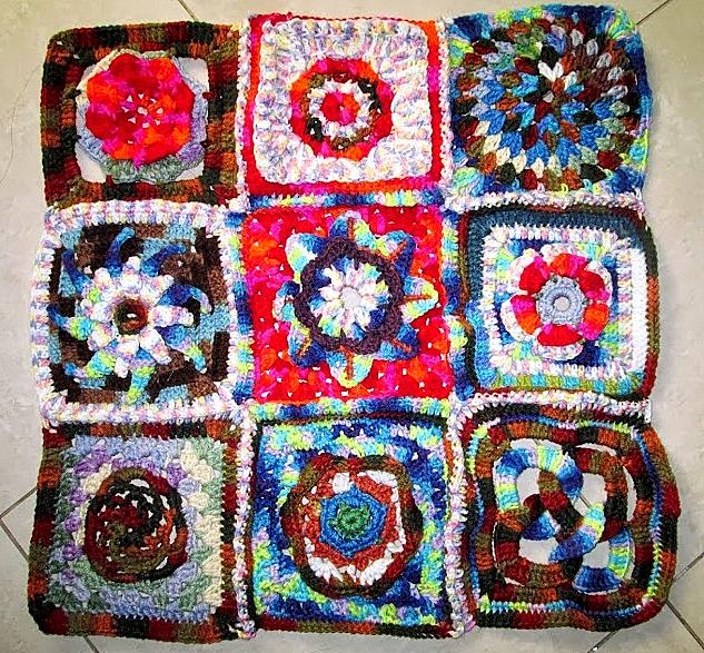 Granny-square table-cloth
