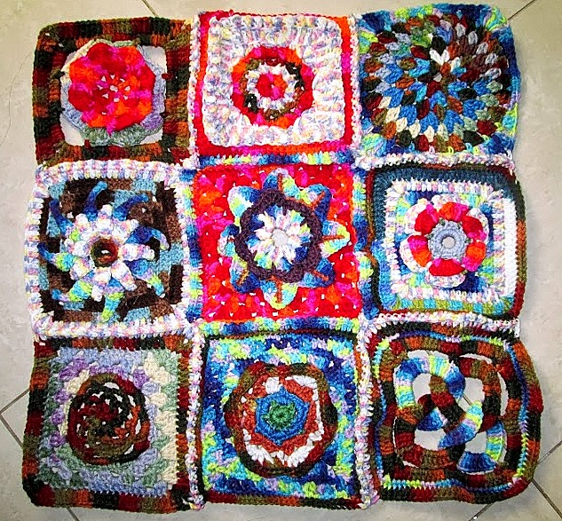 Granny-square table-cloth