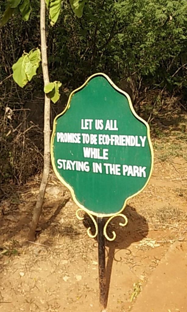 Board inside the park