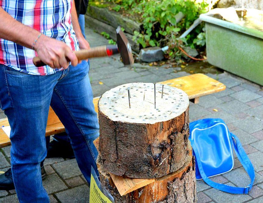 Wett-Nageln (Nail hammering)