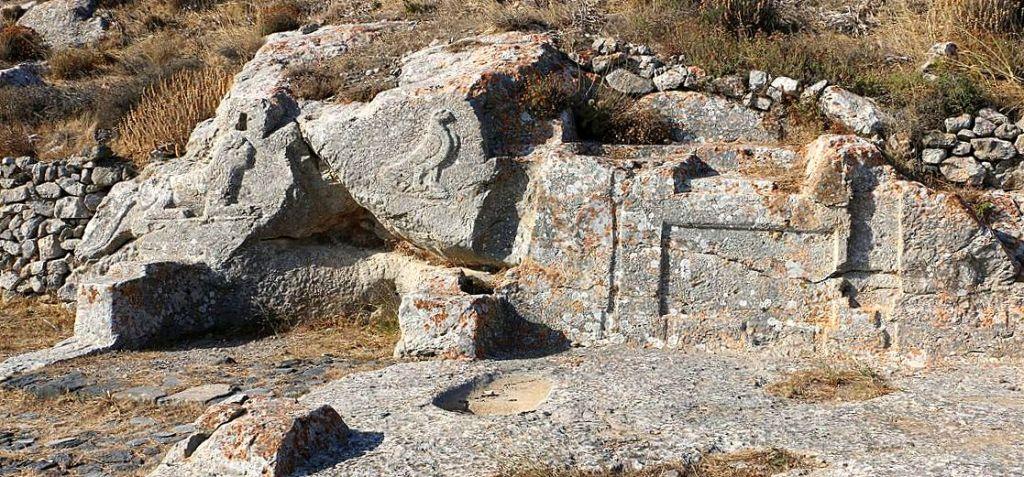 Inscriptions on rocks