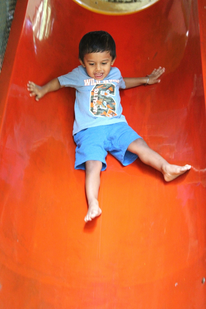 Up and down the slide