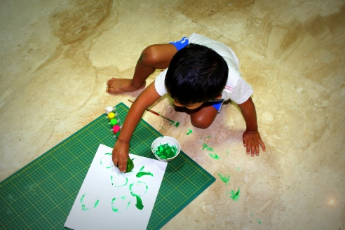 Vegetable Printing with Green