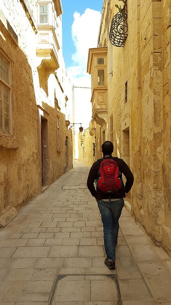 Cobbled streets of Mdina